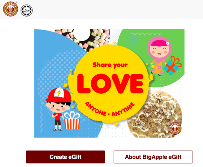 "GIFTEE MALAYSIA Provide ""eGift System"" to Big Apple Donuts & Coffee"