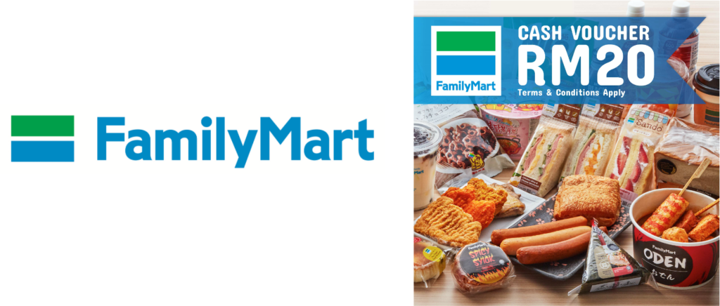 FamilyMart Malaysia eGift is available via eGift System by giftee〜 available now in more than 200 outlets nationwide in Malaysia 〜